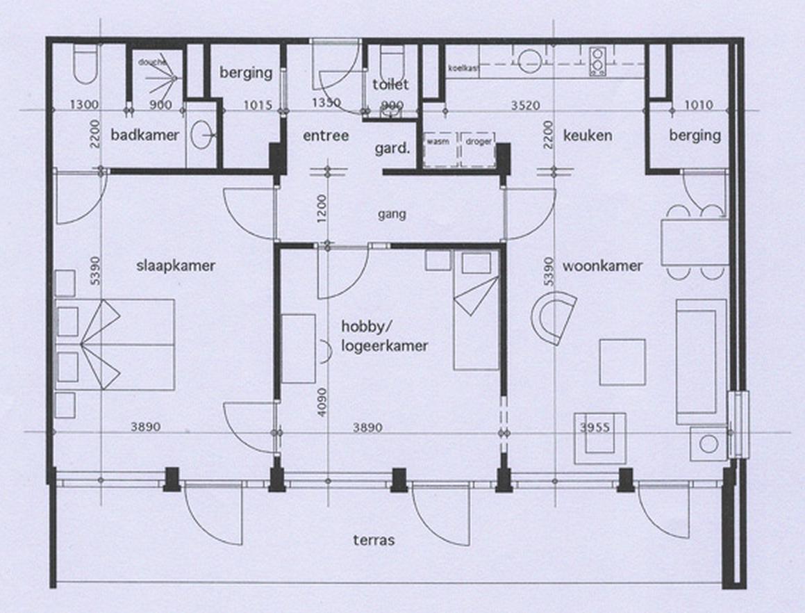 Appartementen stichting de burcht for Plan appartement 150 m2