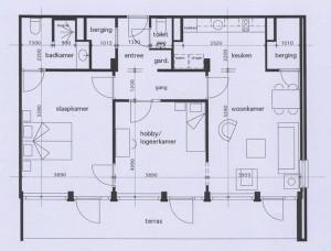 Appartement De Burcht Plattegrond
