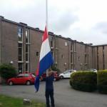Het strijken van de vlag